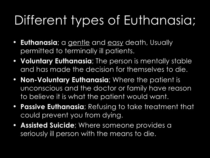 essay on euthanasia conclusion Euthanasia is a viable method to end an otherwise futile attempt at recovery the family of the person being euthanized may not want their family members in pain - to suffer it can be a family duty to do the right thing for the person and society.