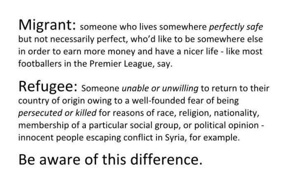 migrant or refugee