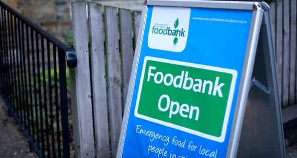 food-bank sign