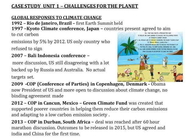 history of countries meeting to save the planet