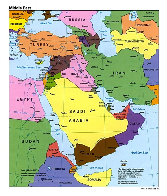 Middle-East-Political-Map