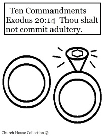 Thou Shalt Not Commit Adultery Coloring Page Ten Commandments
