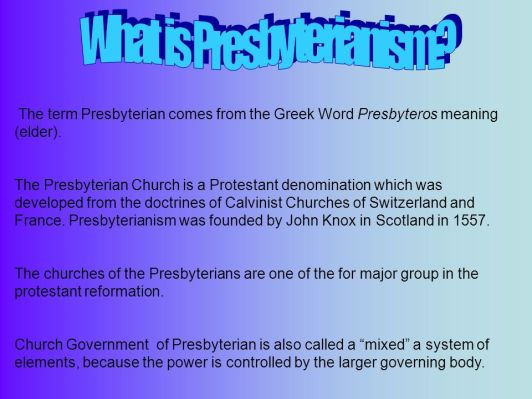 What+is+Presbyterianism