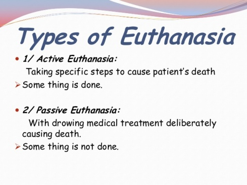 definition of active and passive euthanasia