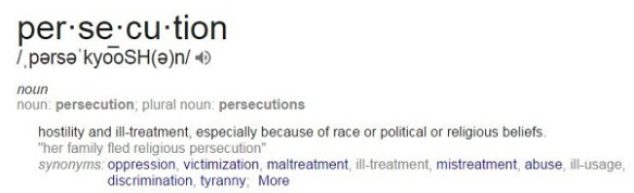 persecution dictionary