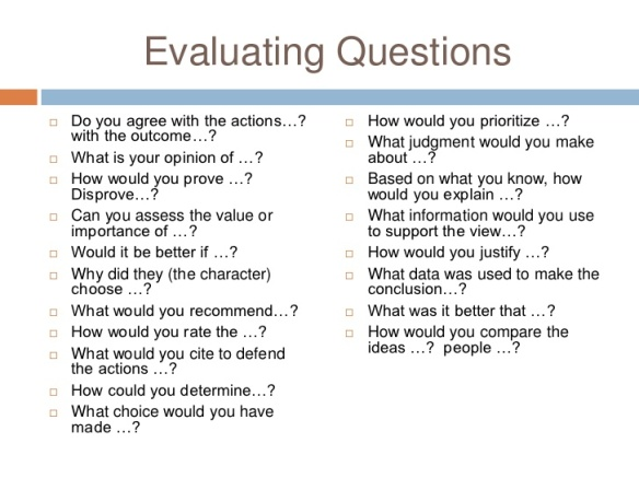evaluating questions